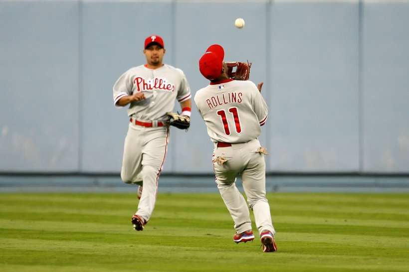Rollins has a .983 fielding percentage, three points higher than Bowa's.