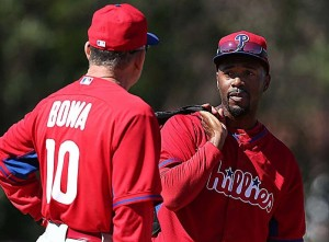 In Rollins' first full season in the majors, 2000, Bowa was his manager.