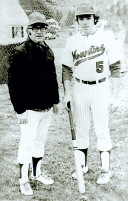 That's Doc Heaps (L), a great coach, with his son, Stan.