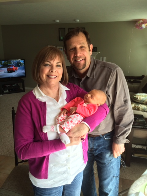 Dave and Judy Sikorski with their newest granddaughter, Mila, born on March 30.