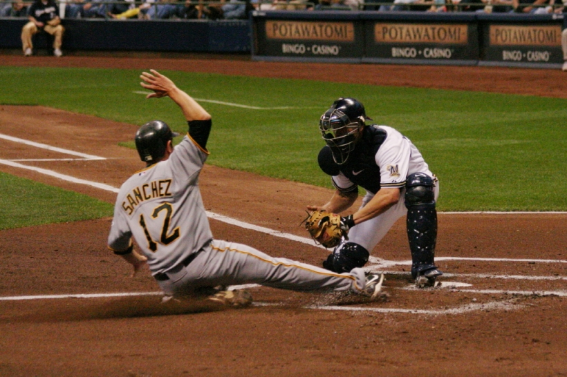 Now, the catcher can only block the plate if he is holding the ball.