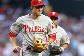 In the 9th, Utley went to the mound to tell Bastardo to not pitch around Abreu.