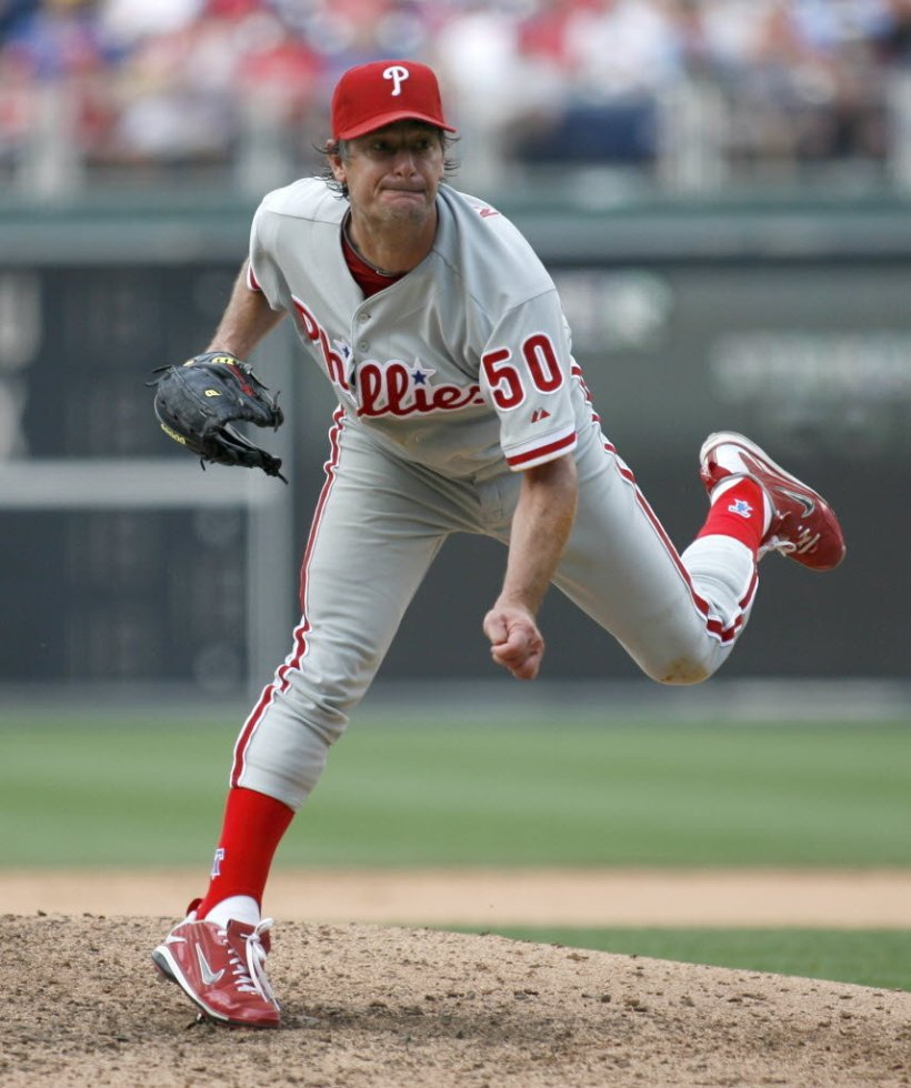 Jamie Moyer, acquired during the season, proved to be a tough competitor for the Phillies.