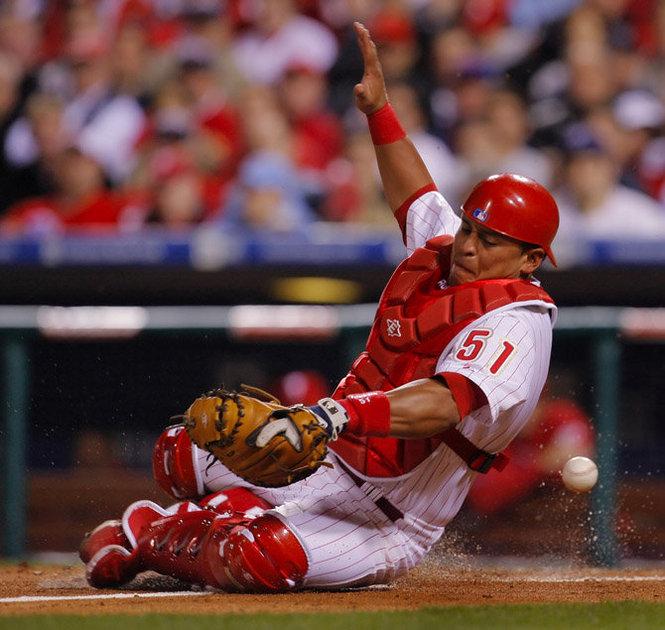 Chooch, Carlos Ruiz, a fan favorite in Philadelphia, is one of many Latino players in Major League baseball.